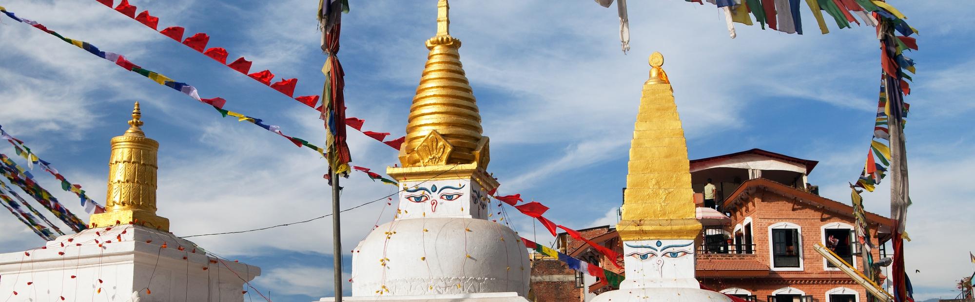 Temples de Katmandú stupa Mediviatges